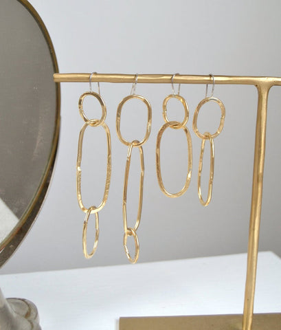 Chain Earrings with Three Links
