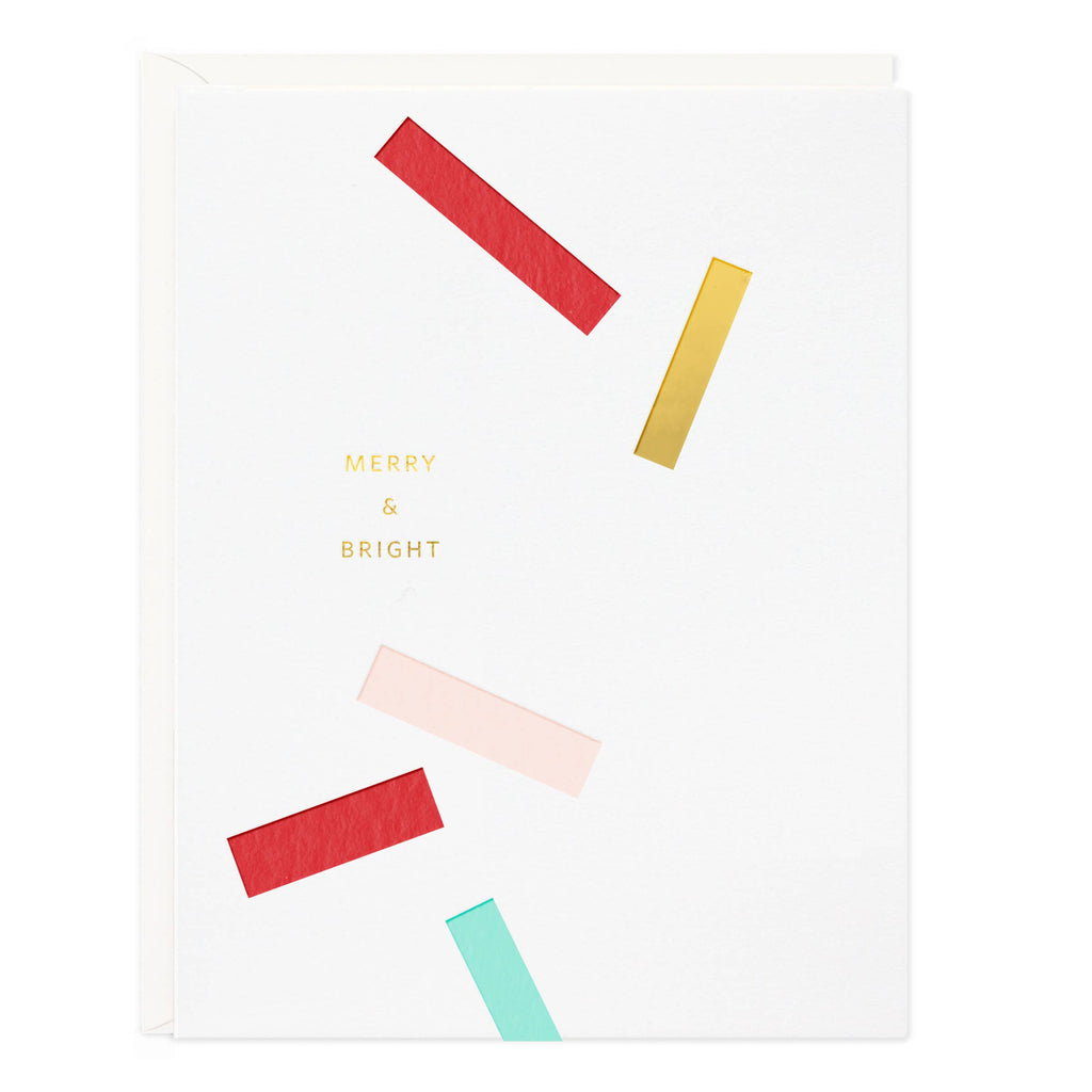 Merry & Bright Confetti Holiday Card