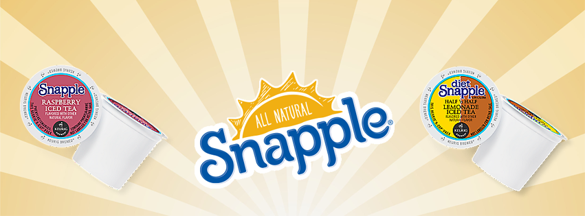 Stock up on Snapple K-Cups at Tiki Hut!
