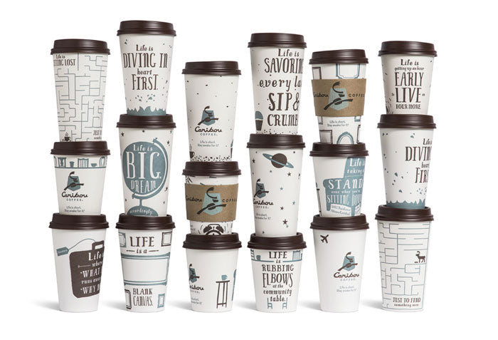 New Caribou Coffee Cups