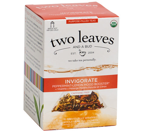 Two Leaves and A Bud Organic Invigorate Herbal Tea