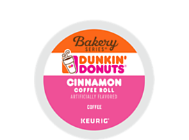 Dunkin Donuts Cinnamon Coffee Roll K-CUP Pods