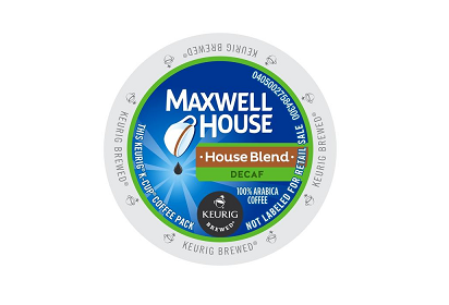 Maxwell House House Blend Decaf K-CUP Pods