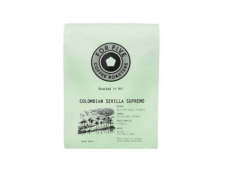 For Five Colombian Sevilla Supremo - 1lb Whole Bean