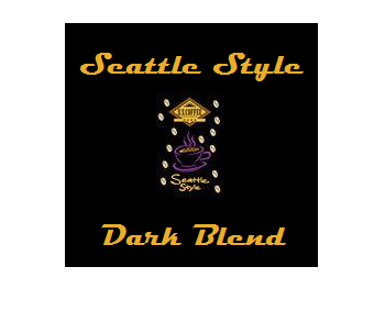 Gourmet Coffee - Seattle Style Dark Blend 2.5oz Bags