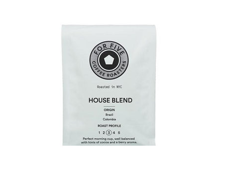 For Five House Blend - 1lb Whole Bean