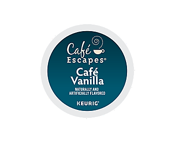K-Cups - Cafe Escapes Cafe Vanilla K-Cups