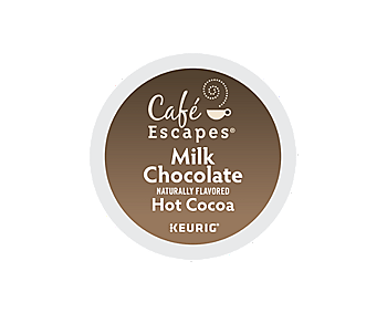 K-Cups - Cafe Escapes Milk Chocolate Hot Cocoa K-Cups