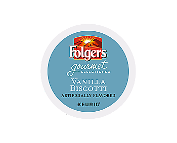 K-Cups - Folgers Gourmet 12ct Vanilla Biscotti K-Cups
