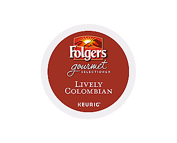 K-Cups - Folgers Gourmet 24ct Lively Colombian K-Cups