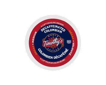 K-Cups - Timothy's Decaf Colombian K-Cups