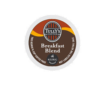K-Cups - Tully's Breakfast Blend Extra Bold K-Cups