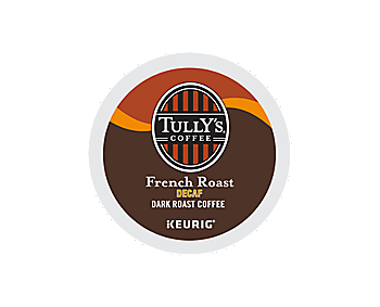 Tully S French Roast Extra Bold Decaf K Cup Pods Tiki