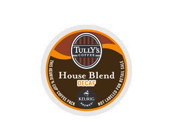K-Cups - Tully's House Blend Extra Bold Decaf K-Cups