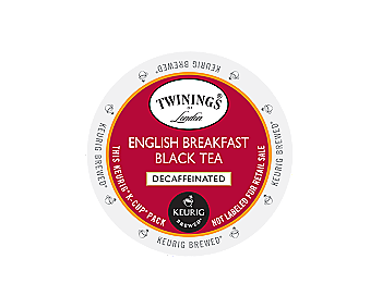 K-Cups - Twinings Decaf English Breakfast Tea K-Cups