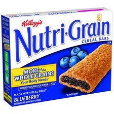 Pantry Supplies - Kelloggs Blueberry Nutri-Grain Bars