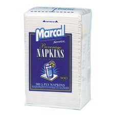 Pantry Supplies - Marcal White Beverage Napkins