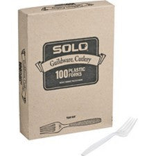 Pantry Supplies - Solo White Heavyweight Guildware Forks