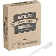 Pantry Supplies - Solo White Heavyweight Guildware Spoons