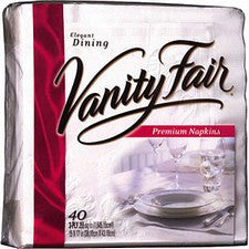 Pantry Supplies - Vanity Fair 40ct Dinner Napkins
