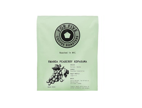 For Five Rwanda Peaberry Kopakama - 1lb Whole Bean