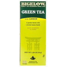 Tea - Bigelow Green Tea With Lemon Tea Bags