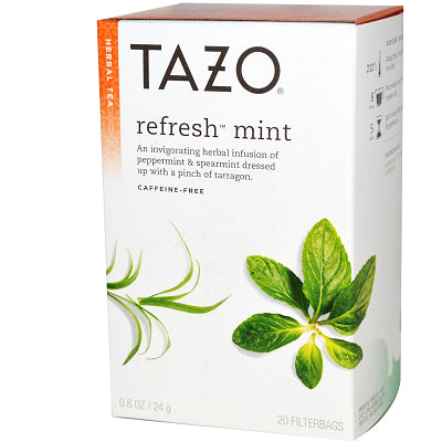 Tea - Tazo Refresh Mint Herbal Tea Bags