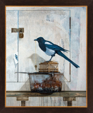 All along the watchtower, framed view, magpie, joker, giclee print, richard hall
