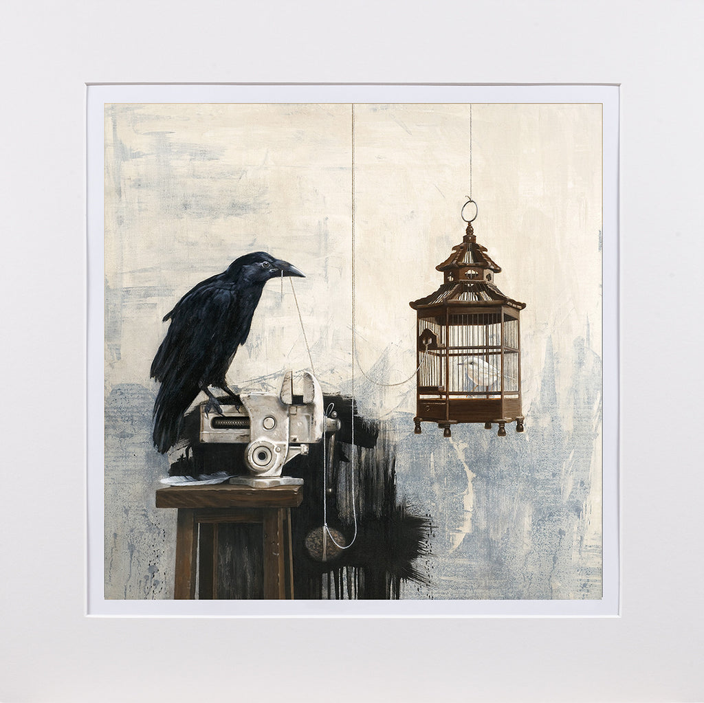 Atonement, Birds, mythology, matted print, richard hall