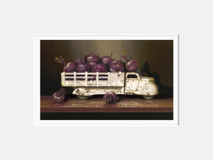 Beet Up Truck, vintage toy truck, beets, Richard Hall matted print