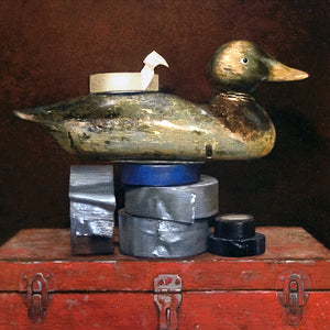 Duck Tape, Decoy, tape, toolbox, Richard Hall visual pun, humor, canvas giclee print, Richard Hall fine art