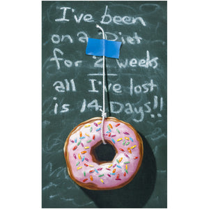 Fourteen Day Diet, donut and diet humor, Richard Hall giclee print