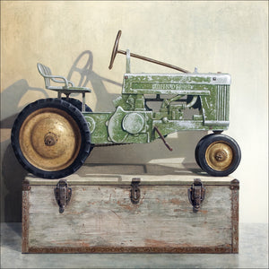 Going Green, Pedal tractor, toolbox, Richard Hall, giclee print