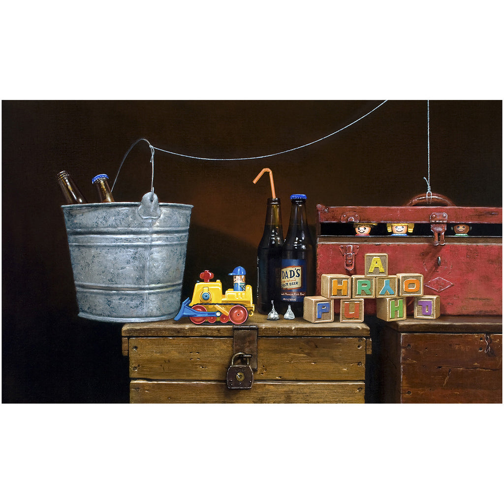 Happy Hour, Toys escape to a party, Richard Hall, giclee print