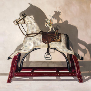 Hi Yo Silver, award winning art, vintage horse toys, Richard Hall, canvas giclee print