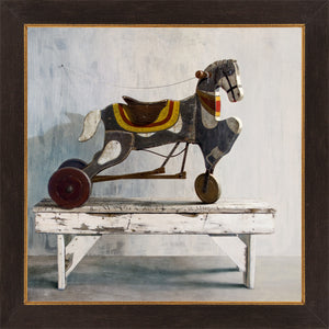 Horsecycle, 1919 toy pedal horse, Sears, Richard Hall, framed canvas giclee print