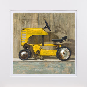 Ol Yell'er, western flyer pedal tractor, toolbox, Richard Hall, matted print