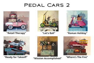 Pedal Cars 2 - Greeting Cards