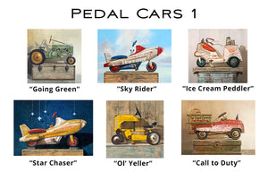 Pedal Cars 1 - Greeting Cards