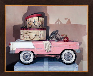 Ready For Take Off, 1941 pedal car pursuit plane, award winning, Richard Hall, framed canvas giclee print