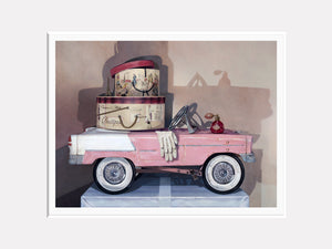 Ready For Take Off, 1941 pedal car pursuit plane, award winning, Richard Hall, matted giclee print