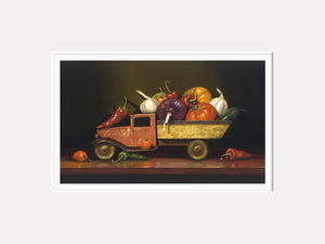 Salsa Fresca, spicy salsa truck, Richard Hall, matted print