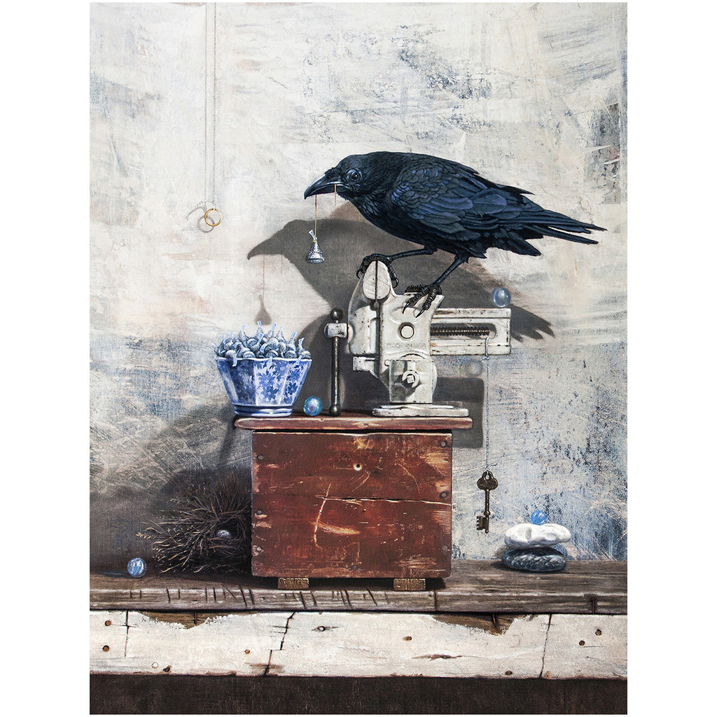 Secret Admirer, raven's gifts for sweetheart, kisses, Richard Hall, canvas print
