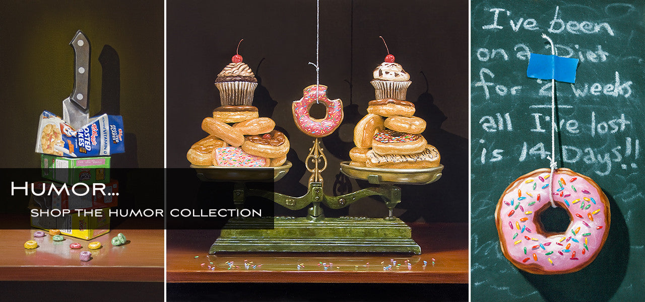 Cereal Killer, Balanced Diet, Donut giclee print
