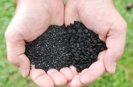 Activated Carbon In Hands Image-Clean Air Plus