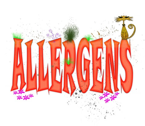 Allergens Sign With A Cat Image-Clean Air Plus