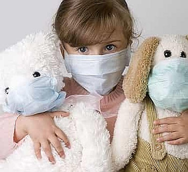 Child Wearing A Mask Image-Clean Air Plus