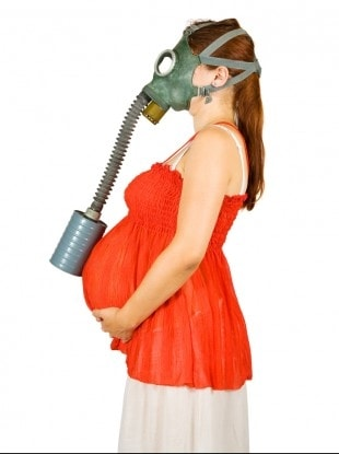 Pregnant Woman Gas Mask Image-Clean Air Plus