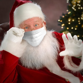 Santa With A Mask Image-Clean Air Plus