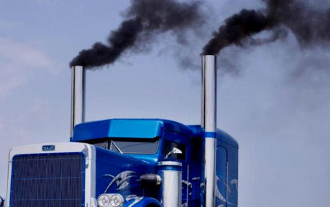 Truck Emissions Picture-Clean Air Plus Air Purifiers